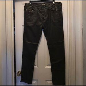 Waxed denim true religion jeans slim fitting